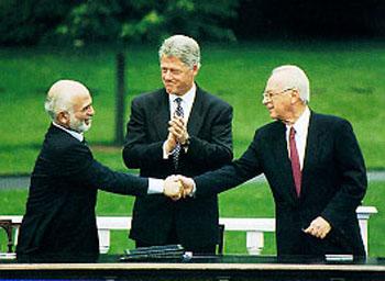 Israel and Jordon sign peace treaty