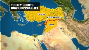 One of the world's most volatile regions was roiled further Tuesday, November when Turkey shot down a Russian warplane near the Turkish-Syrian border. Turkey said it hit the plane after it repeatedly violated Turkey's airspace and ignored 10 warnings.