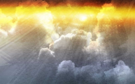 God-coming-sunny-day