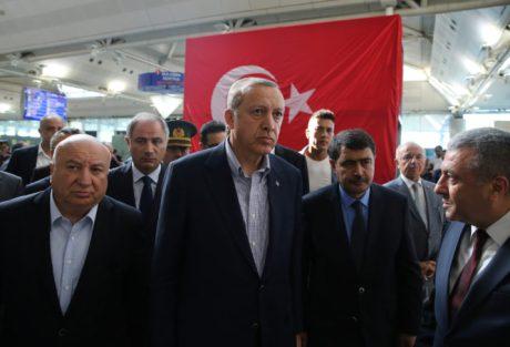 Turkish President Recep Tayyip Erdogan visits attack site
