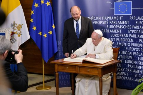 The pope will meet all EU leaders