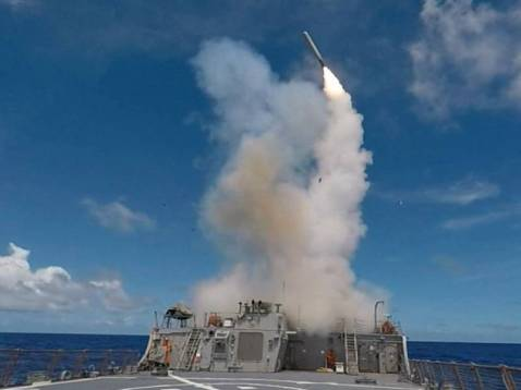 cruise missiles at Syria