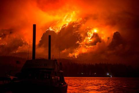 82 wildfires were burning in the United States