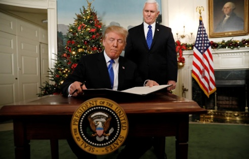 reject Trump's recognition of Jerusalem as Israeli capital