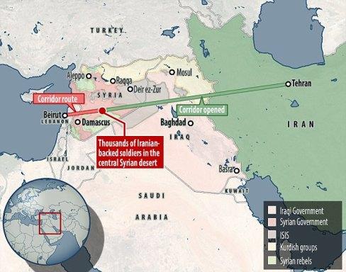 transnational land corridor Iran has