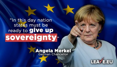 Angela Merkel Nation States Must Give Up Sovereignty
