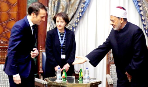 Emmanuel Macron, Ahmed al-Tayeb
