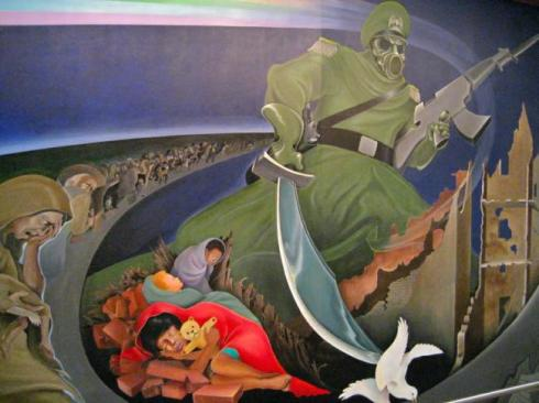 Creepy-paintings-at-Denver-International-Airport