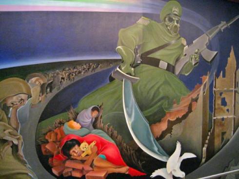 Creepy-paintings-at-Denver-International-Airport