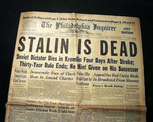 Joseph Stalin dead