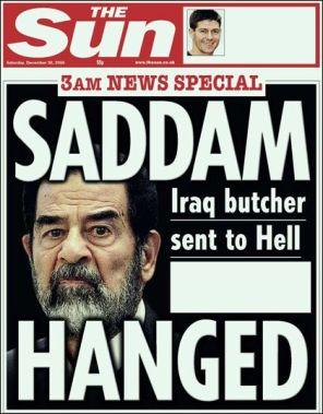 Saddam Hussein dead