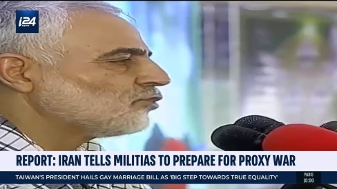 Top Iranian general tells militias to prepare for proxy war