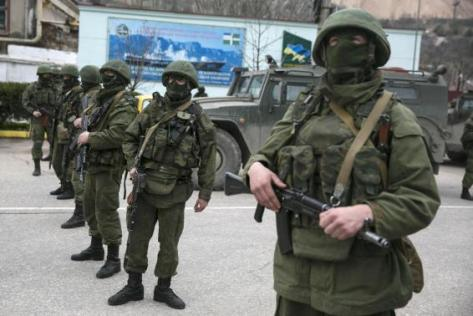 Russian masked troops occupied key Crimean locations