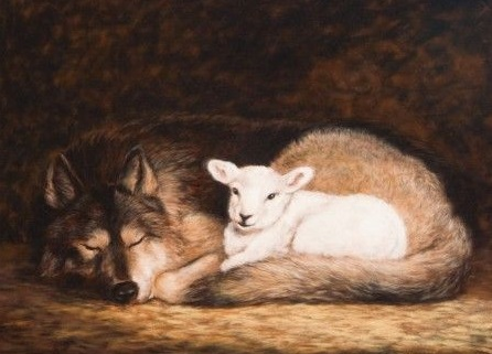 The wolf and the lamb will feed together