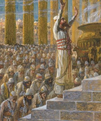 Solomon offered sacrifices there in the Lords presence