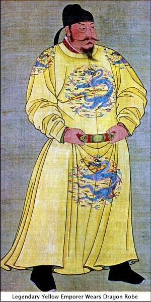 Emperor wearing a dragon robe