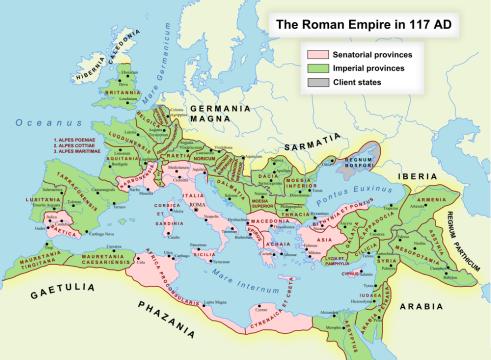 Roman Empire in 117 ad