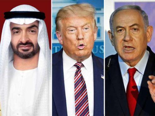 Trump Netanyahu Sheikh Mohammed Bin Zayed