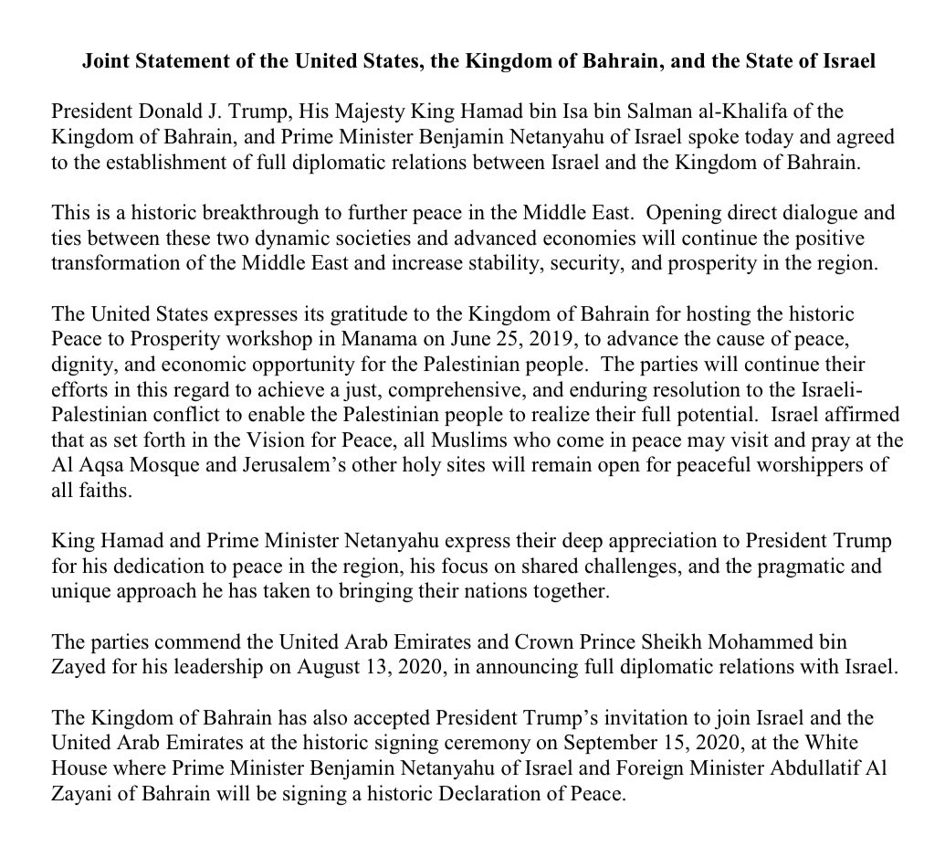 bahrain joint statement