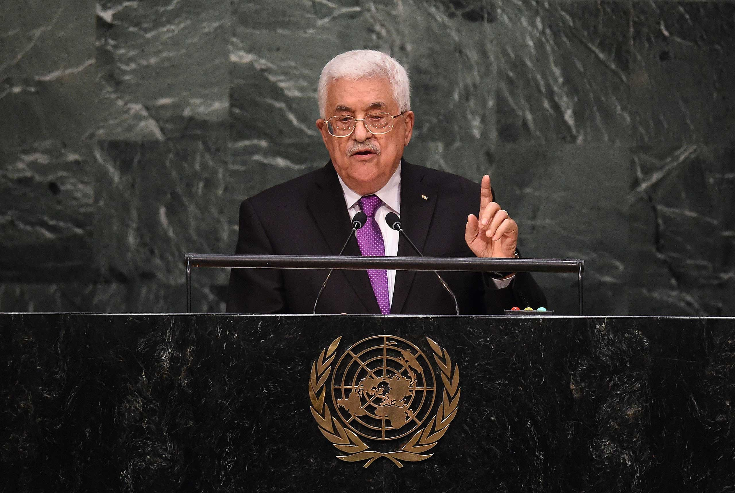 TOPSHOTS-UN-GENERAL ASSEMBLY-PALESTINIANS