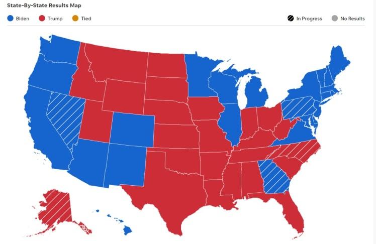 red states blue states 2020