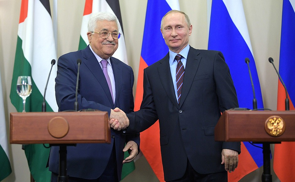 Russian Palestinian leaders discuss Israel-Palestinian peace process