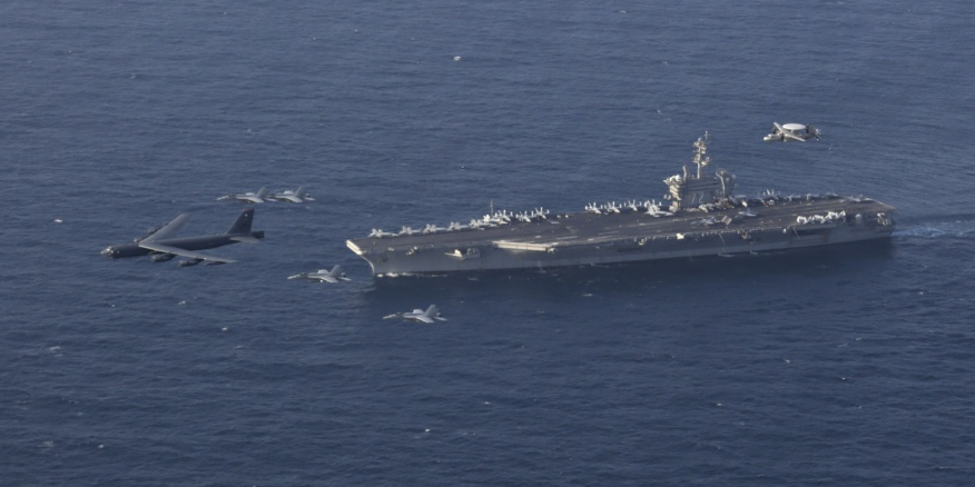 US deploys long-range bombers aircraft carrier to Middle East