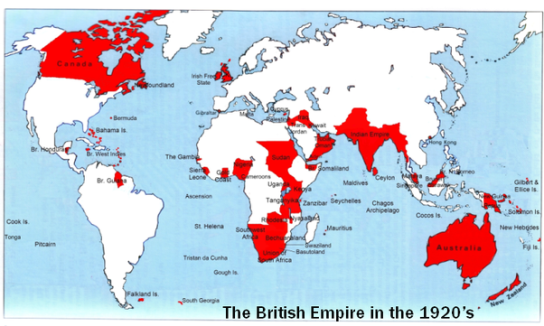 British Empire peak
