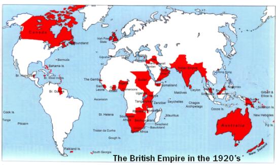 British Empire peak