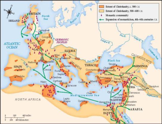 Christianity spread