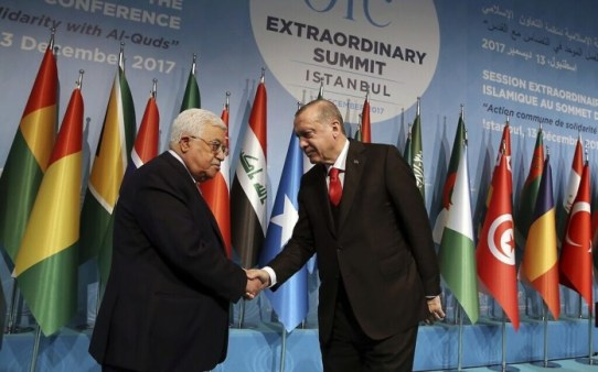 Palestinian Authority President Abbas facilitated call between presidents of Israel and Turkey