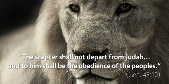 The scepter will not depart from Judah