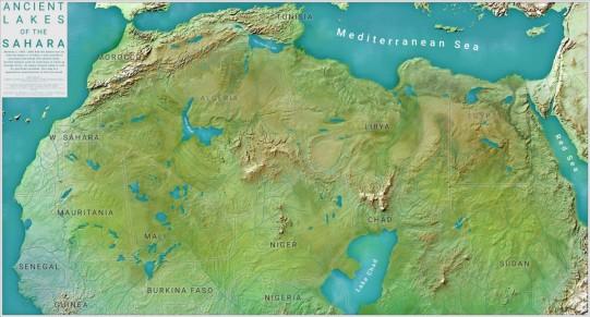 Ancient desertification of Sahara